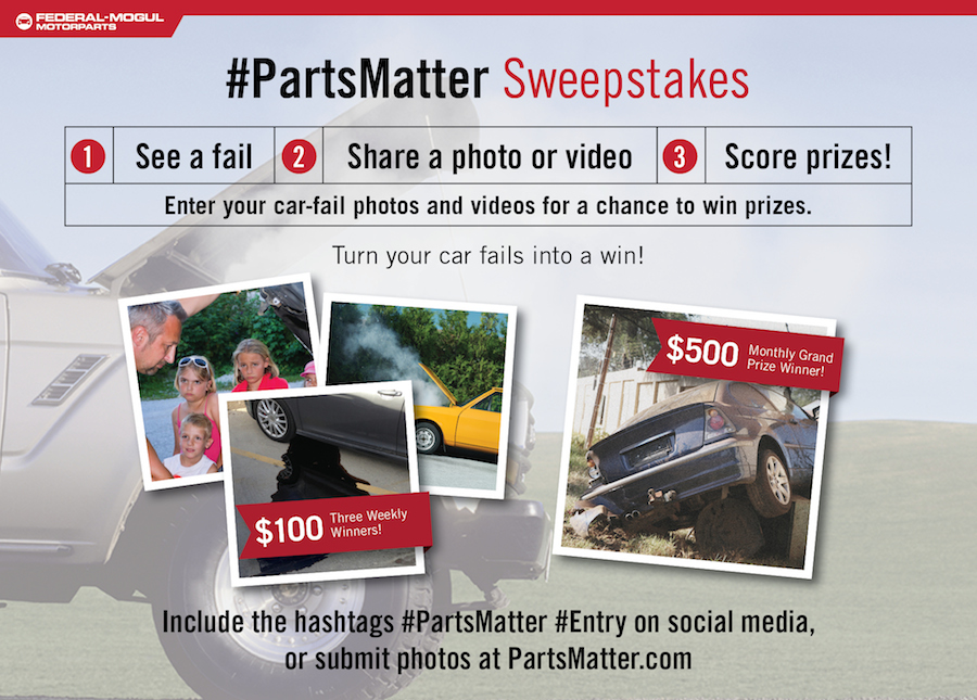Parts Matter Sweepstakes
