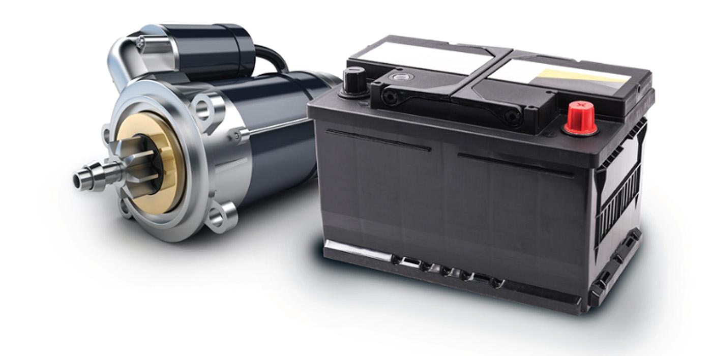 Battery and starter diagnostics