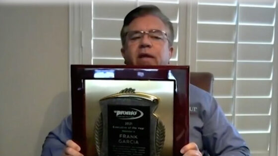 Frank Garcia XL Parts Network Executive of the Year