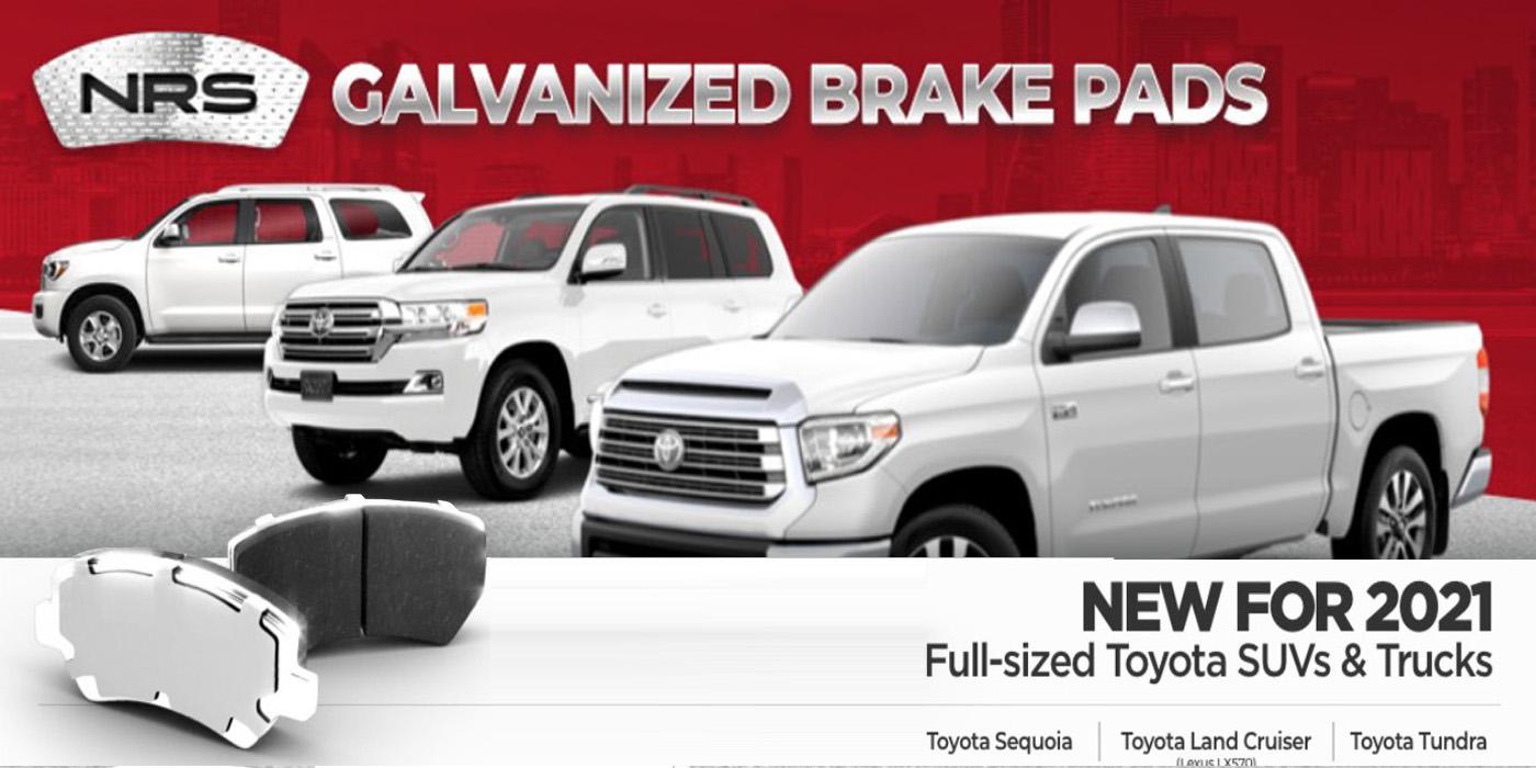 NRS Galvanized Brake Pads Toyota